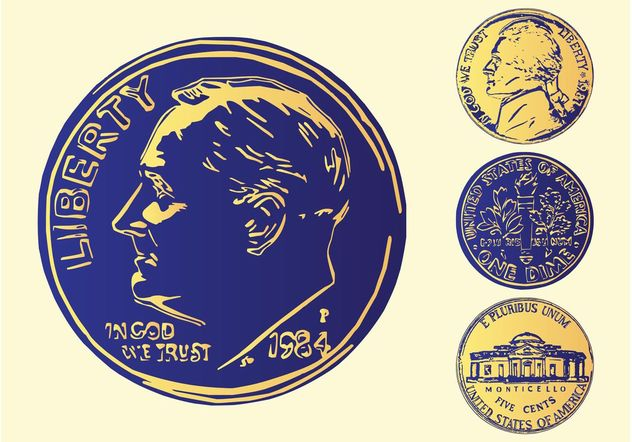 American Coins - Free vector #150993