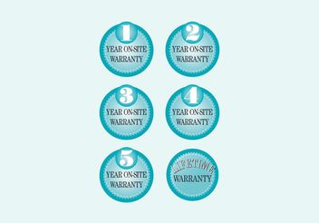 Warranty Labels - vector #151013 gratis