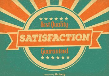 Vintage Satisfaction Guaranteed Illustration - Free vector #151123