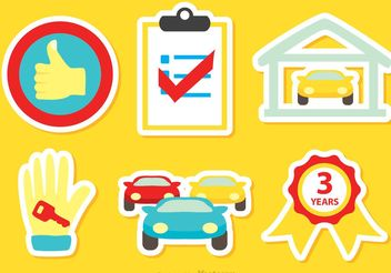 Car Dealership Icons Vector - Free vector #151163