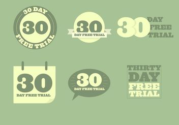 30 Day Free Trial Vectors - Free vector #151183