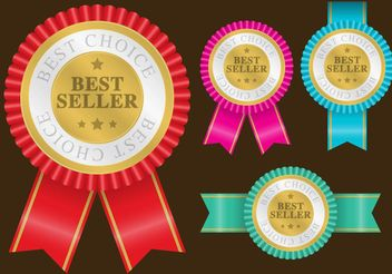 Best Seller Badge Vectors - vector gratuit #151213