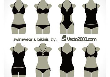 Illustration vector of swimwear and bikinis - Kostenloses vector #151223