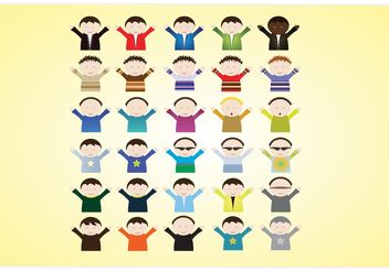 Kids Cartoon Vectors - Free vector #151273
