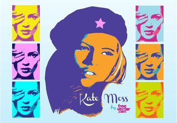 Kate Moss Pop Art - Free vector #151303