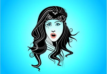 Gypsy Girl - vector #151363 gratis