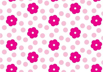 Pink Flower Pattern - Free vector #151383