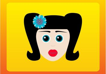 Retro Cartoon Girl - vector gratuit #151393