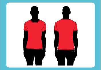 Vector T-Shirt Template - Free vector #151403