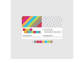 Bright Keyboard Business Cards - Free vector #151473