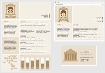 Vector Curriculum Vitae for Architect - Free vector #151623