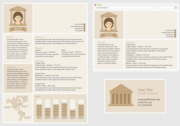 Vector Curriculum Vitae for Architect - vector gratuit #151623