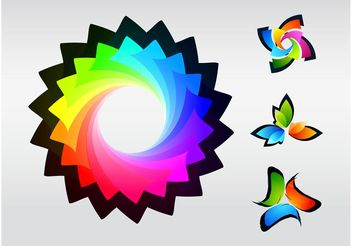 Colorful Logos - vector gratuit #151693
