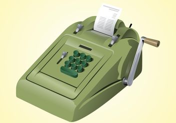Vintage Calculator - Free vector #151803