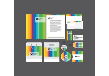 Rainbow Company Profile Template - vector gratuit #151863