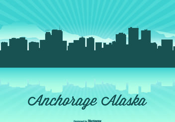 Alaska Skyline Illustration - vector gratuit #151893