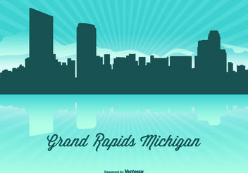 Michigan Skyline Illustration - Free vector #151913