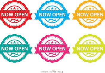 Colorful Now Open Vector Pack - vector #151963 gratis