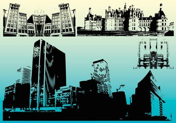 Building Background Vectors - vector #151973 gratis