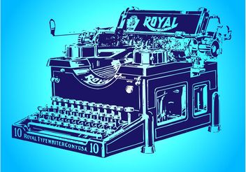 Antique Typewriter - Free vector #152033
