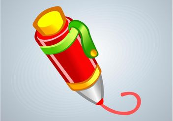 Cartoon Pen - vector gratuit #152113