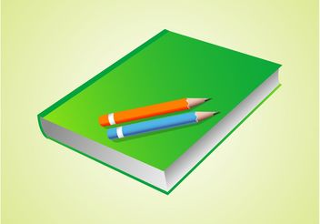 Vector Book And Pencils - Kostenloses vector #152163