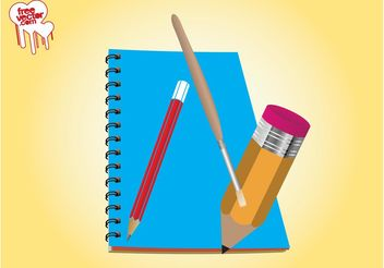 School Supplies Illustration - vector gratuit #152203