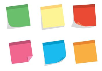 Free Vector Sticky Note Set - vector gratuit #152243