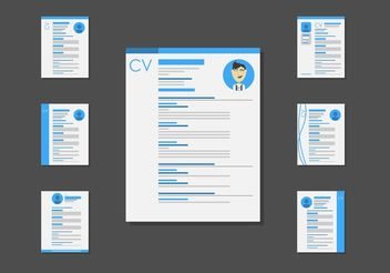 C.V. Layout Template Vectors - vector gratuit #152313