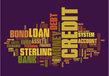 Finance Texts Graphic - Free vector #152553