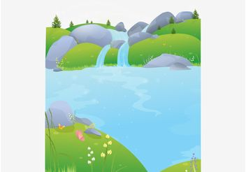 Nature Postcard - vector gratuit #152593