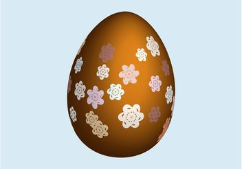 Egg With Flowers - vector gratuit #152643