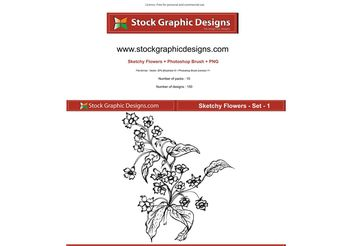 Sketchy Flowers - vector gratuit #152683