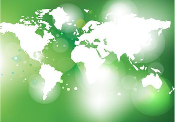 Green World Map Vector - Free vector #152753