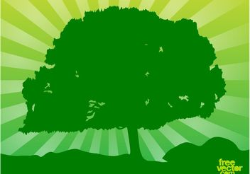 Green Tree - vector gratuit #152773