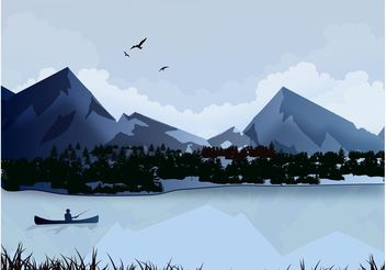 Lake Landscape - Free vector #152783