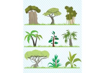 Cartoon Tree Vector Pack - Kostenloses vector #152813