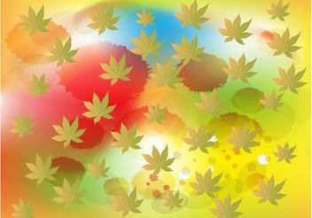Leaf Splatter Background - Kostenloses vector #152843