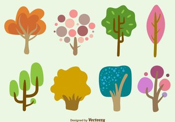 Hand Drawn Cartoon Tree Vectors - Free vector #152873