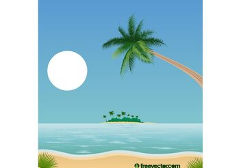 Tropical Beach Landscape - Free vector #152883