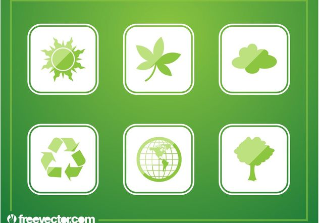 Green Buttons - Free vector #152893