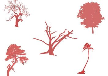 Tree Vector Set - Kostenloses vector #152923