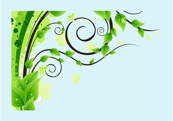 Lush Tree Leaves - Free vector #153003