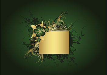 Green And Gold Background - Kostenloses vector #153053