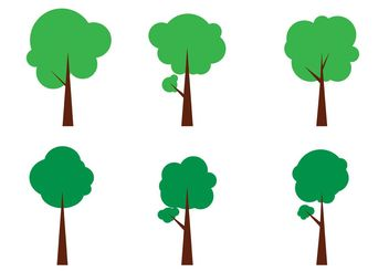Simple Vector Tree Icons - бесплатный vector #153063