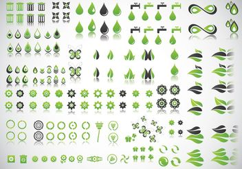 Green Planet Vectors - vector gratuit #153103