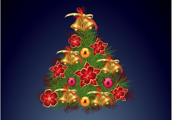 Decorated Tree - vector gratuit #153113