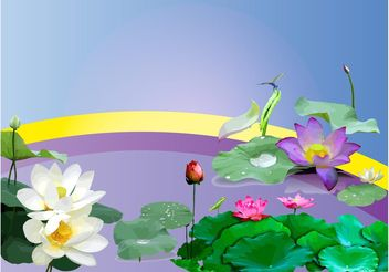 Water Plants - vector gratuit #153143