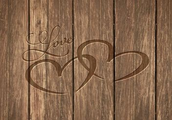 Free Heart Carved In Wood Vector Background - Free vector #153213
