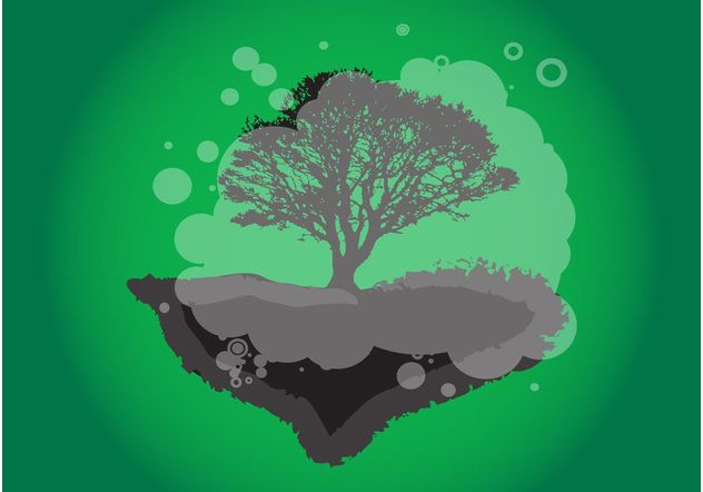 Lonely Tree - Free vector #153243